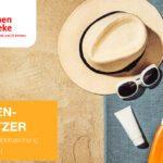 Achtung Sonnenschutz! Juli 2018