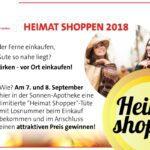 Heimat shoppen! 7. und 8. September!