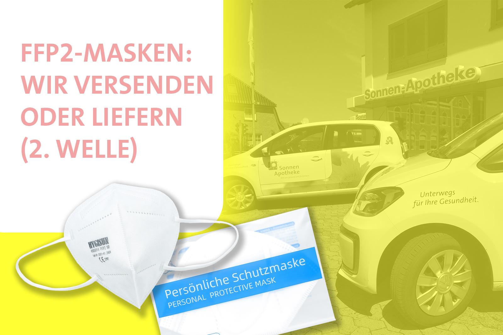 Versand oder Lieferung von FFP2-Masken