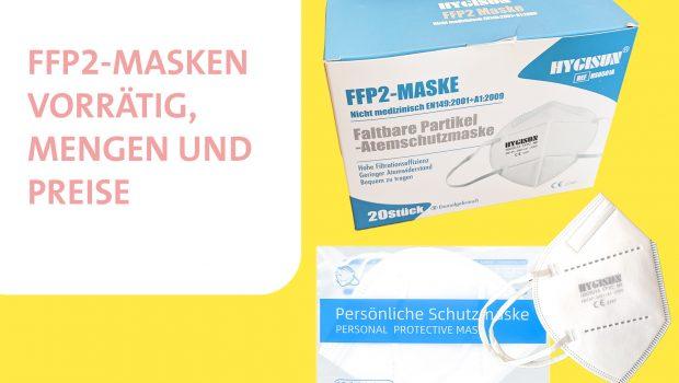 FFP2-Masken: Mengen, Preise
